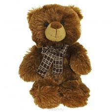 Медведь коричневый с бантом 30см