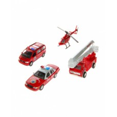 """набор машин """"Пожарная служба"""" 4 шт."""