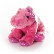 Бегемот 30 см розовый