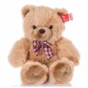 Медведь с клетч. бантом 35 см