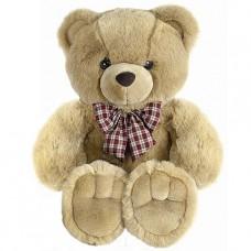 Медведь  с клетч. бантом 56 см