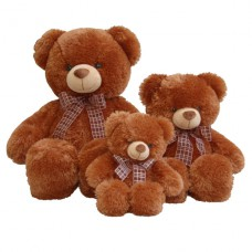 Медведь коричневый с бантом 69см