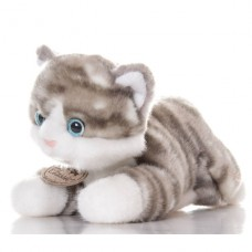 Котенок серый 30см Игрушка мягкая
