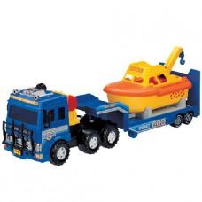 машина с катером береговой охраны