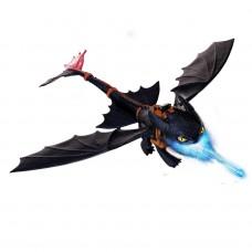 Dragons Большой дракон Беззубик, дышит огнем.
