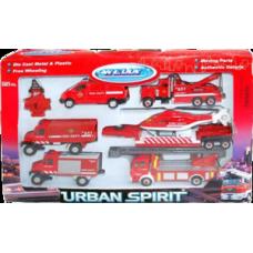 """Игрушка набор машин """"Пожарная служба"""" 6 шт."""